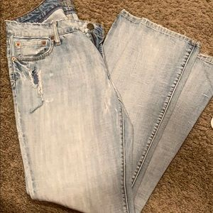 American Eagle semi distressed jeans
